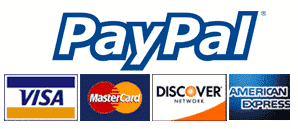 All Major Credit Cards Accepted - Secure Checkout Through PayPal