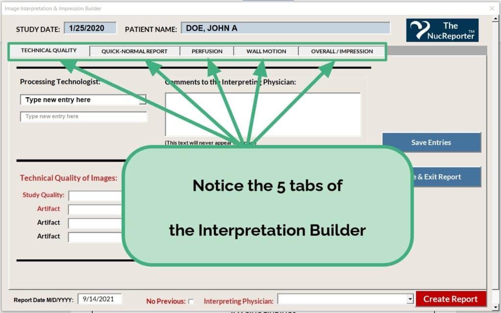 5 Tabs of Interpretation Builder