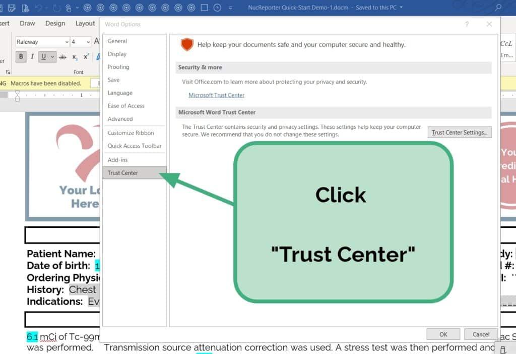 Click Trust Center