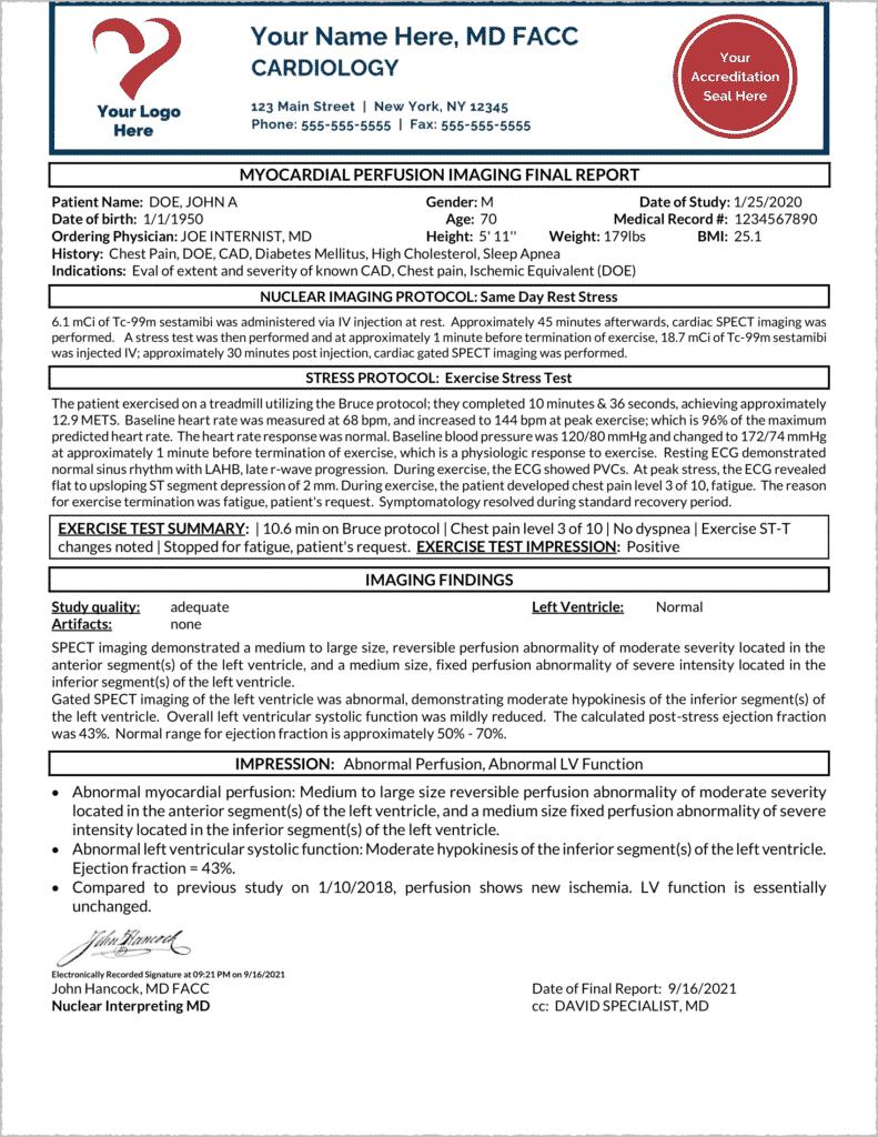 NucReporter Quick-Start Demo Abnormal Report